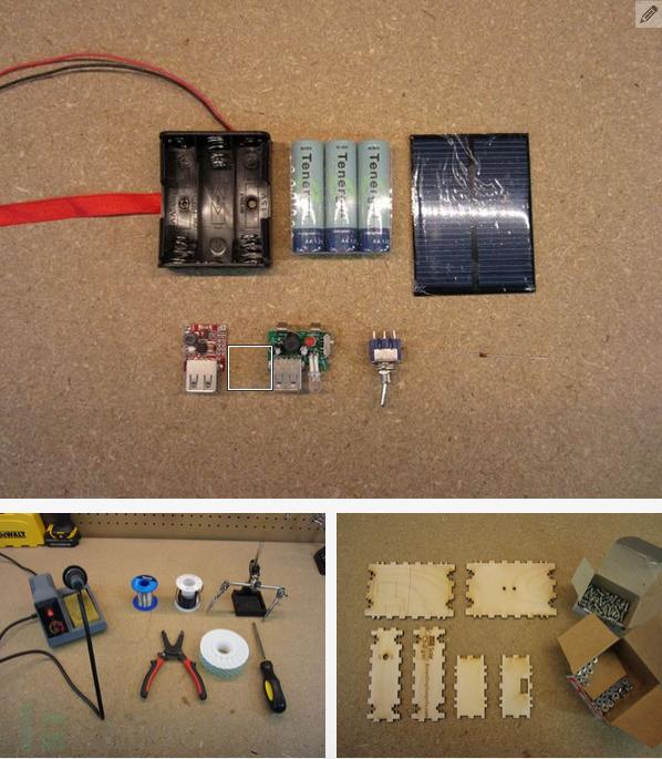 """教你做一个简单的""""太阳能""""移动电源"""