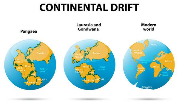 大陆分裂也会导致全球变暖